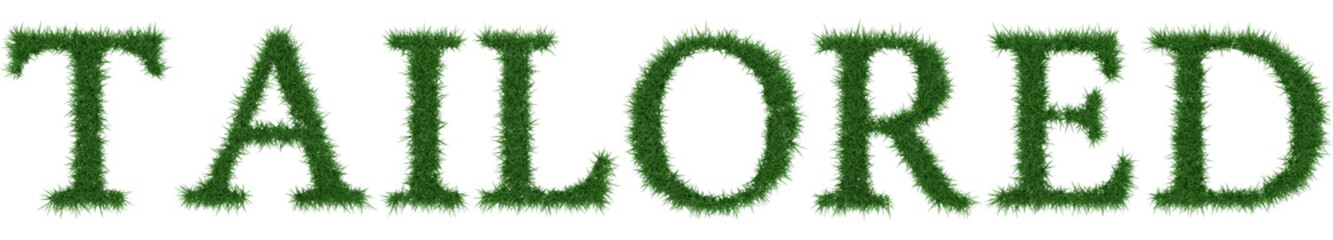 Tailored - 3D rendering fresh Grass letters isolated on whhite background.