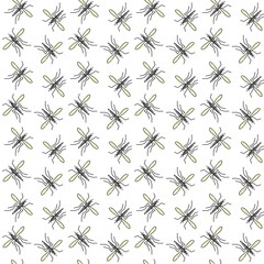 Mosquito vector seamless pattern for textile design, wallpaper, wrapping paper