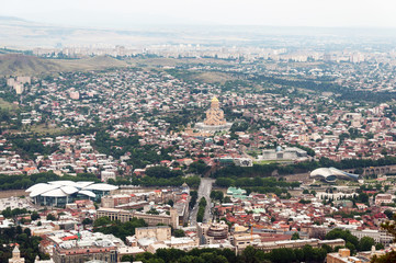 Panoramic view .Tbilisi, Georgia.