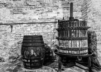 The tools to do the noble wine of Montepulciano