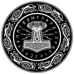 Thor's hammer - Mjollnir and the Scandinavian ornament