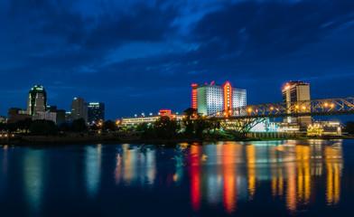 Shreveport Louisiana Skyline Wall mural