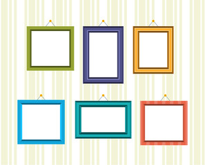 Set of frames for reward and photos in different colors.