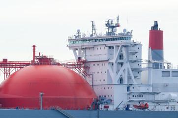 GAS CARRIER - Captain's bridge on the big ship