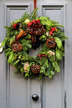 Christmas Wreath at Entrance