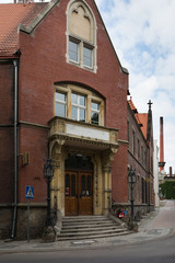 Postamtgebäude in Leobschütz (polnisch Glubczyce) in Oberschlesien