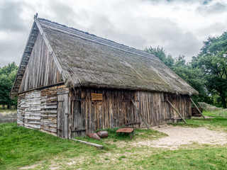 Old wooden barn in Kluki, Poland