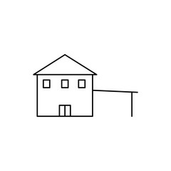 house with parking icon