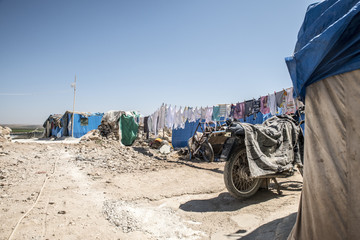 unofficial refugee camp in Reyhanli