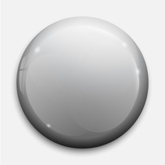 glossy badge or button