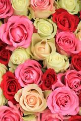 pink mixed wedding roses