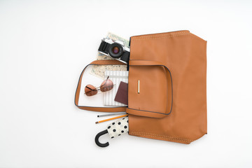 Bag with things for a trip