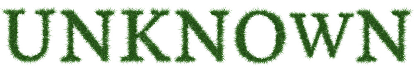 Unknown - 3D rendering fresh Grass letters isolated on whhite background.