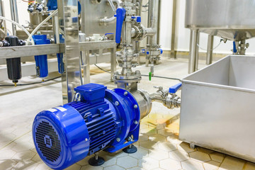 Electric water pump in food and beverage plant