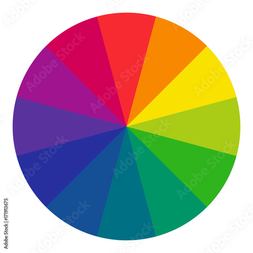 12 Sectioned Rgb Color Wheel Radial Form The Complementary Colors