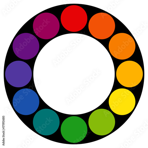 12 Sectioned RYB Red Yellow Blue Used By Artists Color Wheel