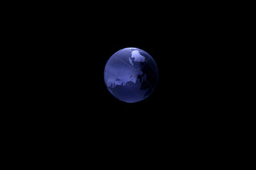 GLOBE 5 - Illuminated earth in the middle of darkness