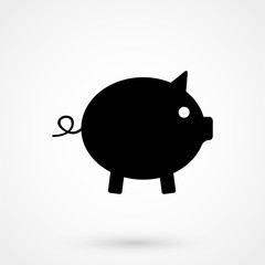Pig icon. Pig vector illustration