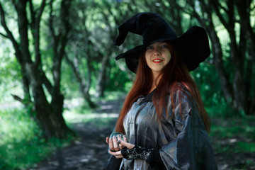 Photo of witch in hat