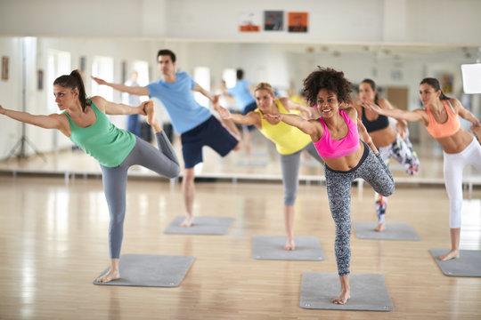Group on body balance training