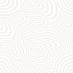 3d seamless pattern, curved lines, dynamical surface. White and beige colors