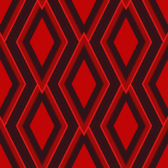 Christmas Red Diamond Shape Seamless Pattern