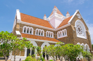 Historical buildings & architecture inside the Galle Dutch fort.  Galle Dutch fort is a historical, archaeological and architectural heritage monument which is more than 423 years