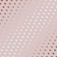 Rose gold. Decorative vector pattern with dots