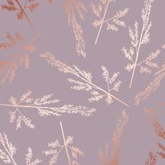 Rose gold. Elegant decorative floral pattern for printing