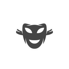 Mask icon. Vector logo on white background