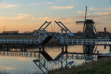 The Windmills of Kinderdijk, a dutch World Heritage