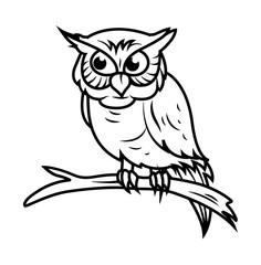 Owl Drawing Vector - vector clip-art illustration