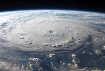 hurricane from satellite tracking view