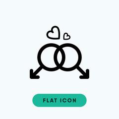 Gay symbol vector icon