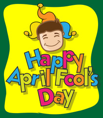 Funny Man Happy Face - April Fool Day Greeting