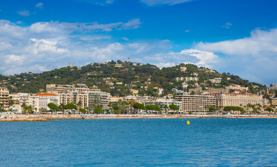 Cannes view from the sea. Italy