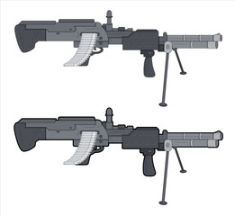 Machine Gun Vector Illustration