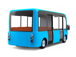 modern cartoon bus back