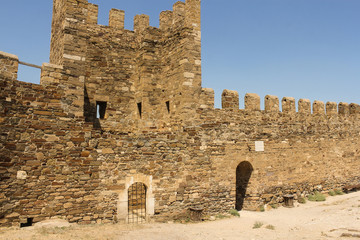 St. George Tower of the Genoese fortress from the inside.