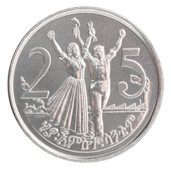 Ethiopian cents coin