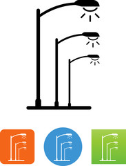 Street Lights Icon - Illustration