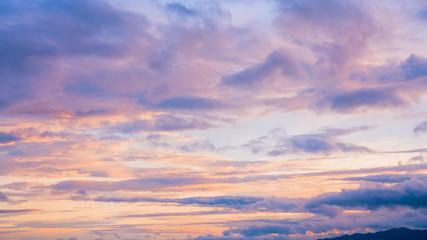 Twilight sky with cloud