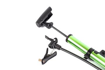 pumping air for bike tire