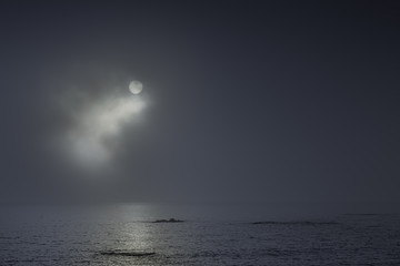 Full moon night at the sea