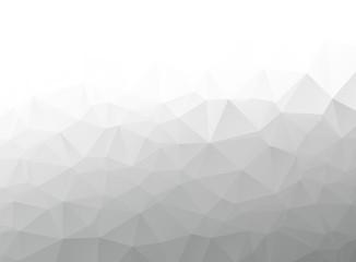 Gray white polygonal background; low poly