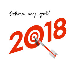 New Year 2018 business concept