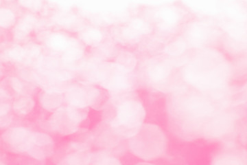 Blur background of pink bokeh Light, Popular in the festival of love.