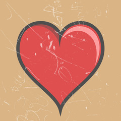 Retro Heart- Clip-art vector illustration