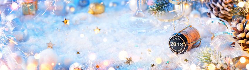 2018 Happy New Year - Cork On Snow