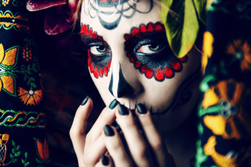makeup of calavera catrina